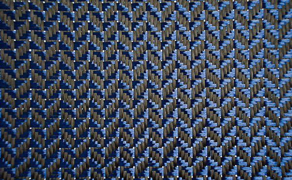 CF Aramid (Blue) Mixed Bidirectional Jacquard